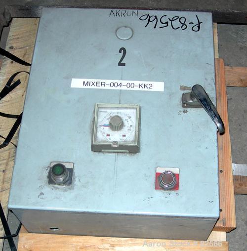 "USED: Shinheung tumble mixer, model SHM. 70 gallon (9.3 cu ft) total capacity, 304 stainless steel. 24"" diameter x 35"" strai..."