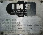Used- IMS Dual Drum Tumbler, Model TB-0355, Carbon Steel. Capacity (2) 55 gallon drums at 280 lbs per drum. Manually adjusta...
