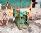 USED: IMS dual drum tumbler, model TBD1500. Capacity (2) 55 gallon drums at 280 pounds per drum. Min/max height 25