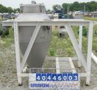 Used- Vac-U-Max Hopper, 20 Cubic Feet, Model 105151, 304 Stainless Steel, Vertical. 36