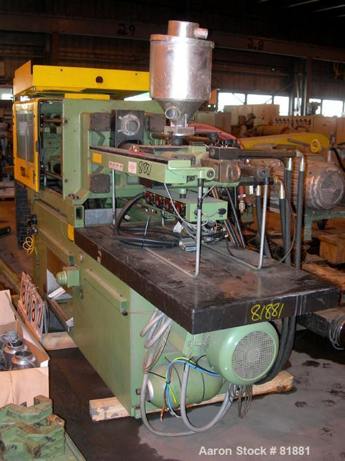 "USED: Arburg Allrounder injection mold machine, model 320-210-750,  83 ton clamping pressure. Platen size 19.3"" x 19.3"". Dis..."
