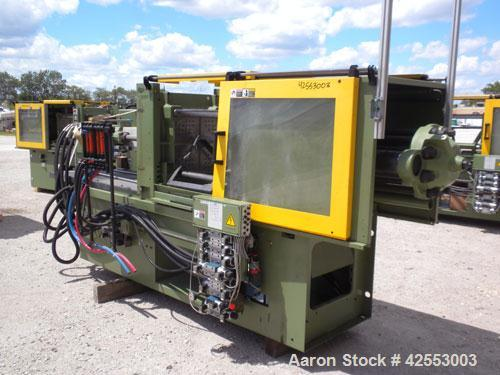 Used- Arburg Allrounder Injection Mold Machine, model 420 M 1000-250, 101.9 ton (1000 Kn) clamping force. Approximate 4.27 o...