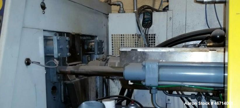 Used- Battenfeld Injection Molding Machine, Model BA400/125. With Unilog 4000 controls. Approximately 44 ton and 10 ounce Sh...