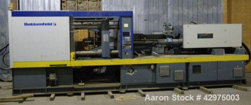 Used-Battenfeld Injection Molding Machine, Model BK-T3200/1250.  350 Ton, twin toggle. Shot size 31.6 oz, 896 g PS. Injectio...