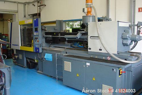 "Used-Battenfeld BKT 1800/2000 Injection Molding Machine. 180 ton clamping force, plate size 22"" x 22"" (560 x 560 mm), max da..."