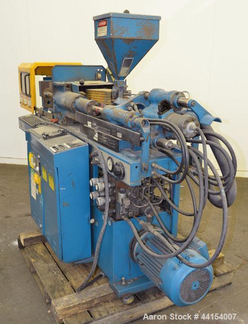 Used- Boy Machines 22 S Dipronic Horizontal Injection Molder, 22 Tons, Model 220-52. Approximate 1.12 oz. shot size. Maximum...