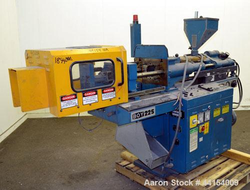 Used- Boy Machines 22 S Dipronic Horizontal Injection Molder, 22 Tons, Model 220-52. Approximate 1.12 oz. shot size. Maximum...