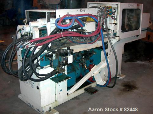 Used- Boy Hydraulic Injection Mold Machine, Model 50T2. 50 Ton clamping pressure. Approximate shot sizes, 5.57 ounce with a ...