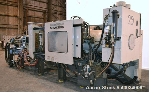 Used- Cincinnati Milacron 400Ton Hydraulic Horizontal Injection Mold Machine, Model MH-400-41. Approximate 41 ounce shot siz...