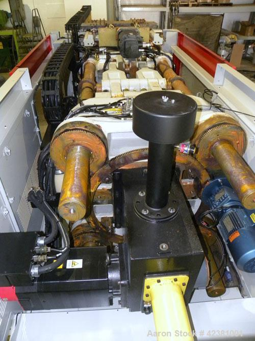 Used- Milacron Powerline Multi-Component Two Platen Injection Molder, 330 Ton, Model NT330-8-7.6. Clamp force 330 ton, clamp...
