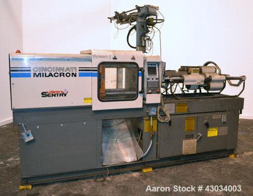 Used- Cincinnati Milacron Vista V Series Toggle Injection Mold Machine, 55 Ton, Model VST-55-4.447. Clamp force 55 ton, clam...