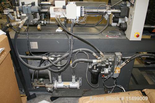 "Used-55 Ton Cincinnati Milacron Model VST55, 2.27 oz, 1992. Clamp style toggle, shot size 2.27 oz, tie bar space 12.8"" x 12...."