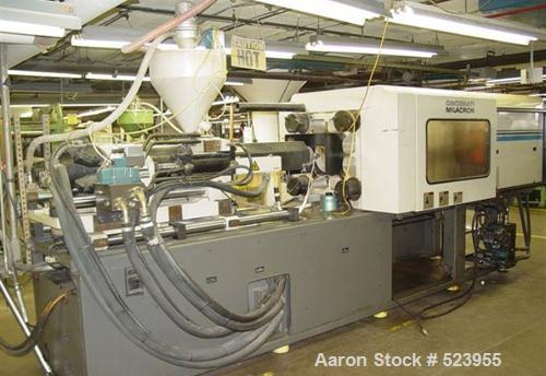 "USED: Cincinnati Milacron 220 ton, model VT220-20, injection moldingmachine, 20 oz. Manufactured 1998. Tie bar spacing 21.2""..."