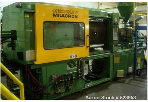 "USED: Cincinnati Milacron 300 ton, model VT300-34, injection molding machine, 34 oz. Manufactured 1994. Platen size 36.8"" x ..."