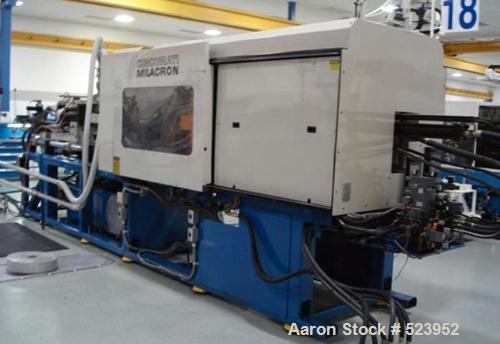 "USED: Cincinnati Milacron 300 ton, model VT300, injection molding machine, 20 oz. Manufactured 1994. Platen size 36.8"" x 36...."