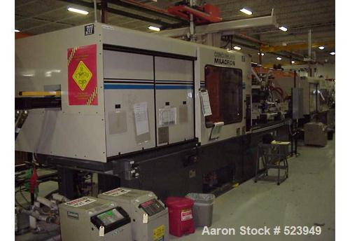 USED: Cincinnati Milacron 440 ton, model VT440-41, injection molding machine, 41 oz. Manufactured 1998. Tie bar spacing 28.9...