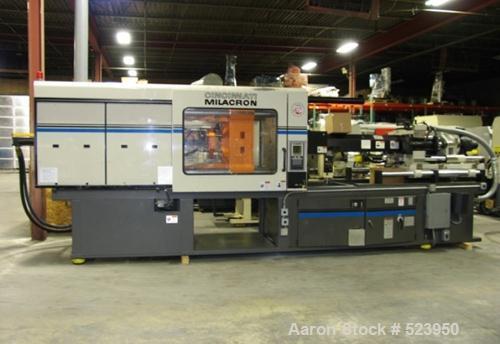 "USED: Cincinnati Milacron 440 ton, model VT440-54, injection moldingmachine, 54 oz. Manufactured 1997. Tie bar spacing 28.9""..."