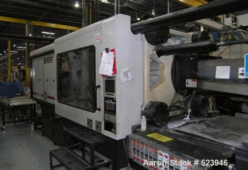"USED: Cincinnati Milacron 550 ton, model VT550, injection moldingmachine, 76 oz. Manufactured 1999. Platen size 49.02"" x 49...."
