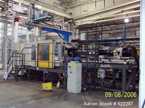 "USED: Cincinnati 1000 ton injection mold machine, model VL1000 Square. Shot size 181 oz. Platen size 62.99"" x 62.99"". Tie ba..."