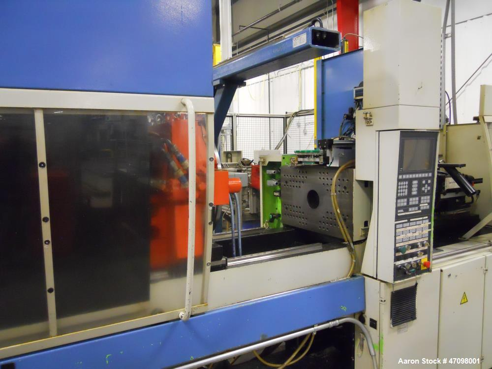 Used- Engel Injection Molding Machine, Model ES 330/80 HL. 800 KN clamping force. 780mm x 420mm mold plattens, 500 mold open...