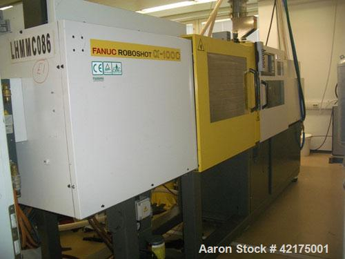 Used-Fanuc Roboshot 100 Ton Injection Molding Machine, type Alpha-100C with 28 mm screw. Includes transformer for 380V input...