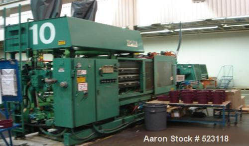 "USED: HPM 500 ton injection molding machine, model 500-MKII-75-500.Overall platen 50"" x 50"", tie bar clearance 34"" x 34"", sh..."