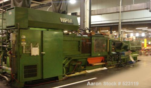 "USED: HPM 700 ton injection molding machine, model 700-MKII-110.Overall platen 54"" x 54"", tie bar clearance 36.5"" x 36.5"", s..."