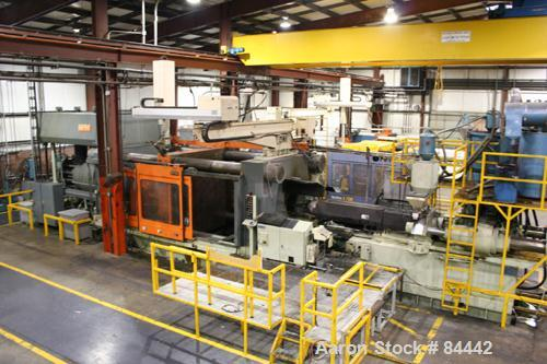 """USED: HPM 3000 ton injection molding machine, model H-3000WP-400. Serial #94083H3000WP-400. 106"""" x 96"""" platen area."""