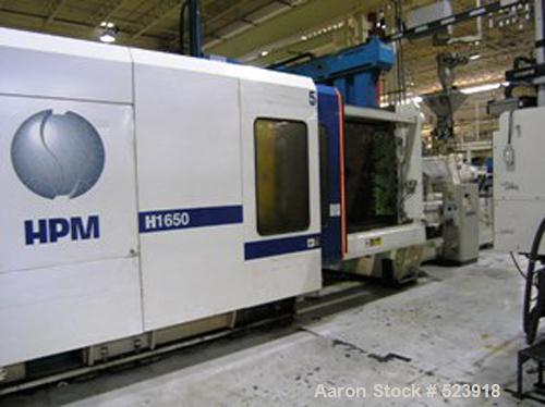 """USED: 1650 ton, 250 oz, HPM injection molding machine, model MLH 1650-250. Wide platen. Installed new 1997. Platen size 98"""" ..."""