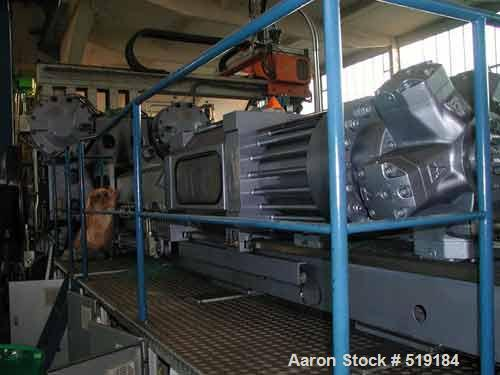 USED: HPM 13000/11400 1300T Next Wave injection molding machine withinterface robot. All manufactured 2001. Clamping force 1...