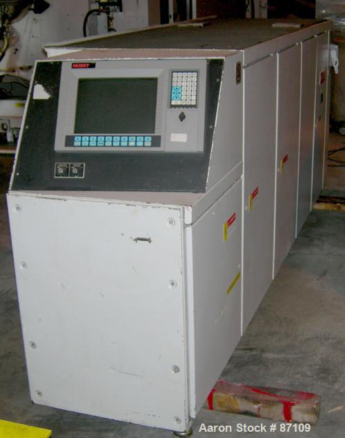 USED- Husky Injection Molding Machine, Model LX750 RS120/100. 825 ton US, 750 ton metric. 108 Oz shot capacity, Electrical c...