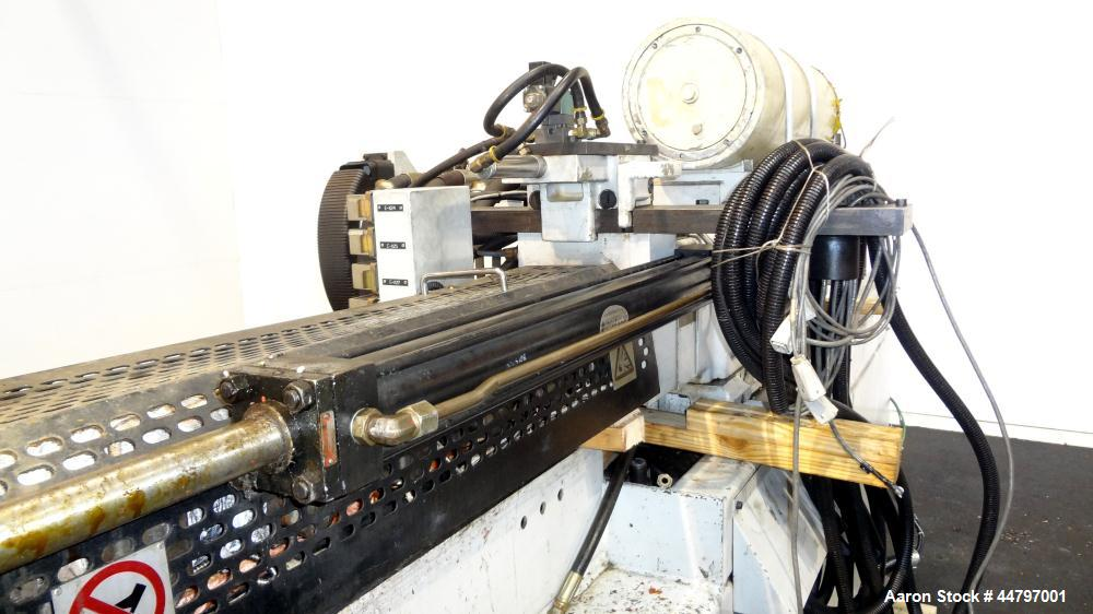 """Used- Husky Horizontal Injection Mold Machine, 300 Tons, Model SX300 RS60/50. Platen Size: 40.79"""" x 40.79"""". Distance Between..."""