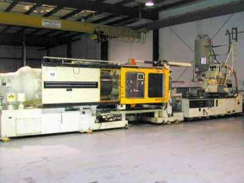 "USED: Mitsubishi injection molding machine, 720 ton, model 720MGW-160. New 1991. Platen size 60.00"" x 60.00"". Distance betwe..."