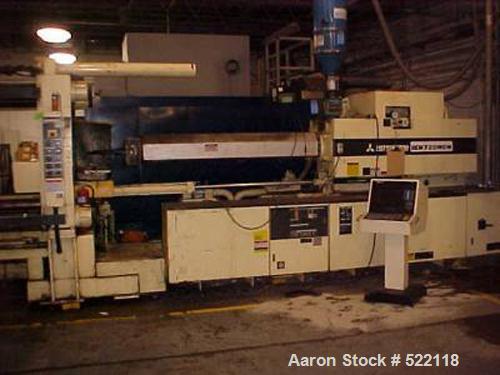 "USED: 950 ton, 160 oz Mitsubishi injection molding machine, model 950MG. Mfg 1993. Platen size 60.00"" x 60.00"". Distance bet..."