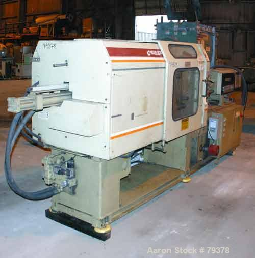 """USED: Negro Bossi injection molding machine, model NB-130. Built 1986. 30 ton clamping pressure. Platen size 25"""" wide x 25"""" ..."""