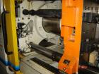 USED: Mitsubishi model 90MJ2-5, 90 ton injection molding machine. Mfg 2000. 4.9 oz shot. Tie bar spacing is 14.96