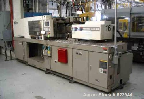 USED: Toshiba 120 ton, model ISG120NV10-2Y, injection molding machine, 3 oz. Manufactured 1999. Distance between tie bars 16...