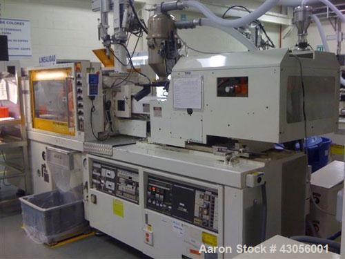 Used-Toshiba Injection Molding Machine, 85 ton, model ISP85N11.  Barrel size 1.7 oz / 32 mm.  Tie bar clearance 14 1/4.  Max...