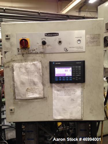 "Used- Uniloy 400 ton structural foam injection molding machine. 879 oz shot size HDPE foam, platen measures 67"" x 58"", dayli..."