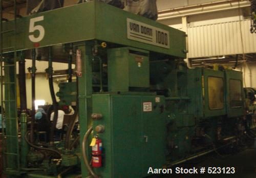"""USED: Van Dorn 1000 ton injection molding machine, model 1000-H-RS.Overall platen 73"""" x 65"""", tie bar clearance 52"""" x 44"""", sh..."""