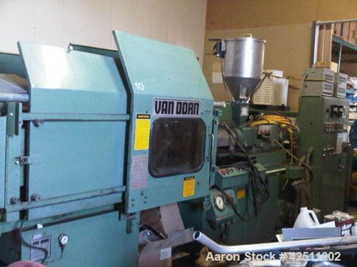 Used-Van Dorn Hydraulic Toggle Clamp Reciprocating Screw Plastic Injection Molding Machine. 150 ton, 8 oz, model 150-RS-8F. ...