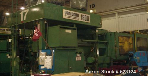 """USED: Van Dorn 1500 ton injection molding machine, model 1500H-RS-260F-CV. Overall platen 76"""" x 76"""", tie bar clearance 52"""" x..."""