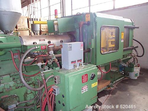 "USED: 250 ton Van Dorn 35 oz shot injection molding machine. 22"" x 22"" tie bar clearance, 33"" x 38-1/2"" platen size, clamp s..."