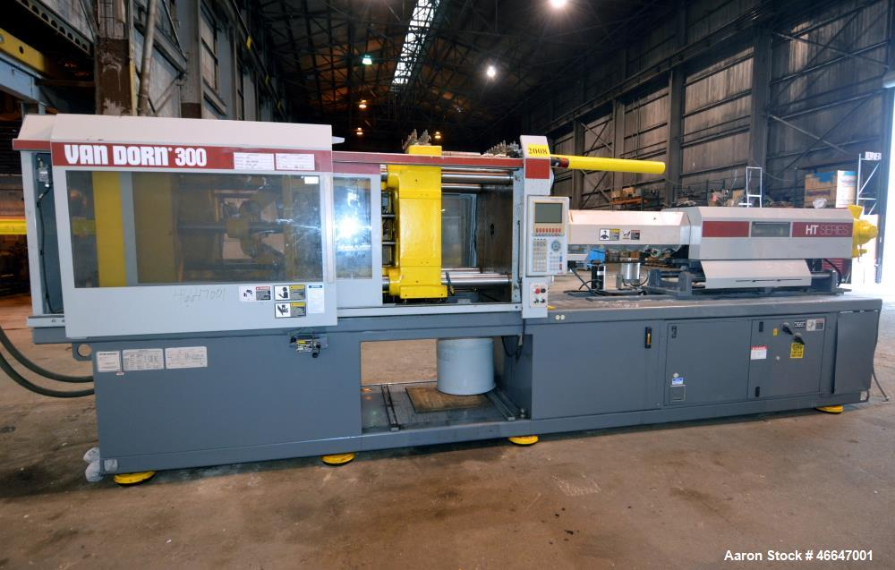 Used- Van Dorn HT Toggle Clamp Horizontal Injection Mold Machine, 300 Ton, Model