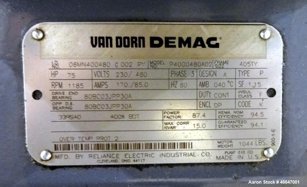 Used- Van Dorn HT Toggle Clamp Horizontal Injection Mold Machine, 300 Ton, Model