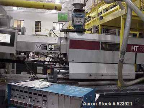 "USED: 300 ton, 30 oz, Van Dorn injection molding machine, model 300RS30F-HT. Year 1995. Platen size 39"" x 36.50"". Distance b..."