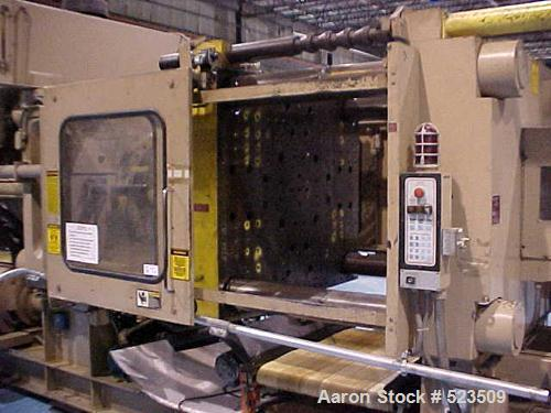 "USED: 700 Ton, 80 ounce, Van Dorn injection molding machine, model 700HRS-80F-LP. New 1989. Wide platen. Platen size 62"" x 5..."