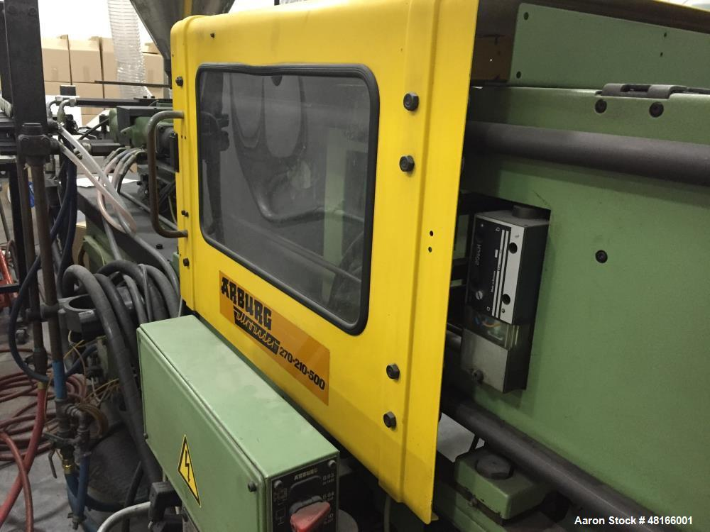 Used- Arburg Allrounder 270-210-500 Injection Molding Machine. 5.58 shot size, 40mm screw diameter, 55 clamp tonnage. Hydrau...
