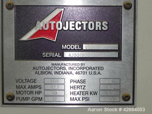 Used- Autojectors Model VS10-S Vertical Injection Molding Machine. 10 Ton system. Approximate shot size 1.74 oz. Has vertica...
