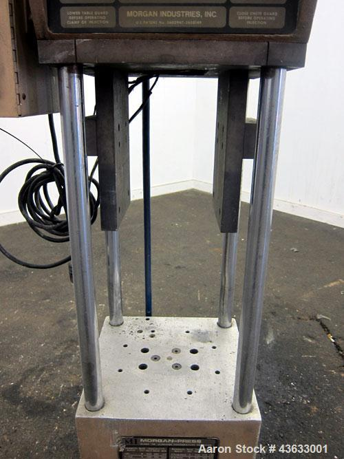 Used- Morgan-Press Vertical Injection Molder, Model G100T. 20 Ton maximum clamping force, 0-800 degrees F temperature contro...